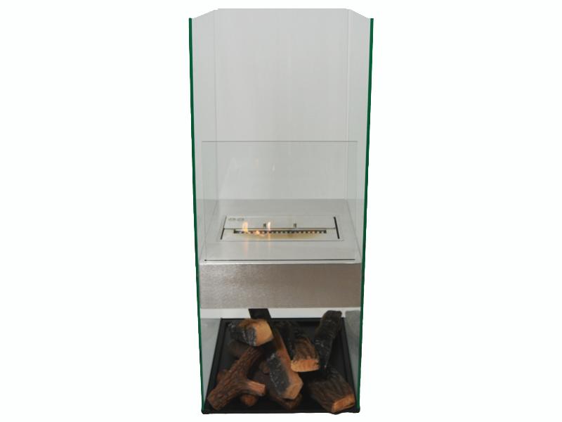 Gulv biopejs med glassider