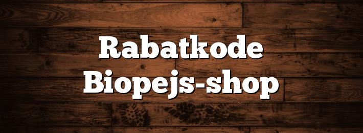 Rabatkode Biopejs-shop